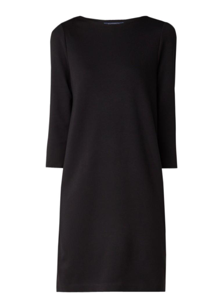 French Connection Lula midi-jurk met inzet van kant zwart