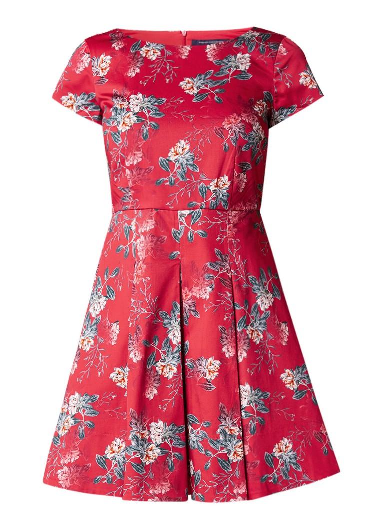 French Connection Kioa A-lijn jurk met bloemendessin rood