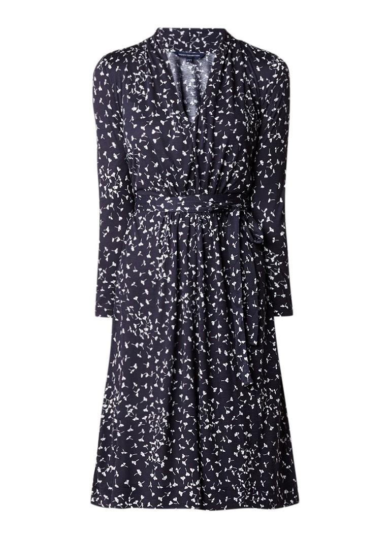 French Connection Komo midi-jurk van jersey met bloemendessin donkerblauw