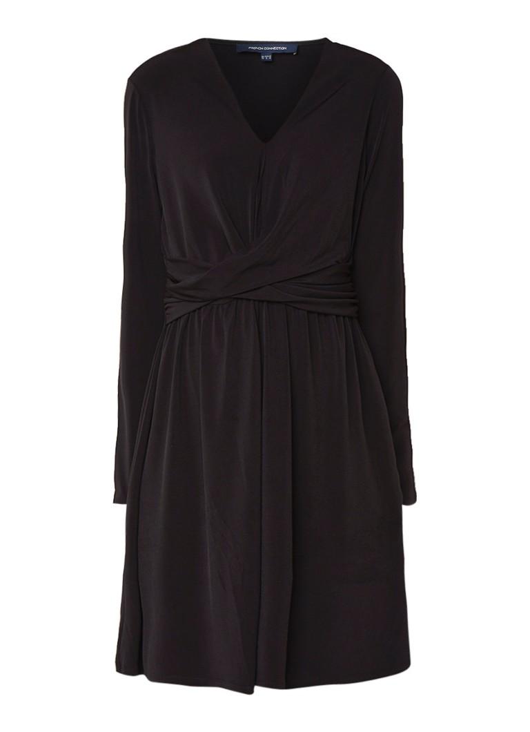 French Connection Alexia A-lijn jurk met gedraaid detail zwart