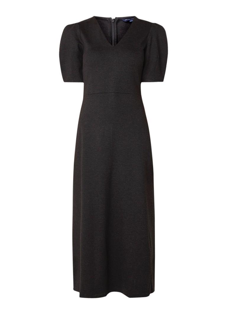 French Connection Elyn maxi-jurk van jersey met pofmouw donkergrijs