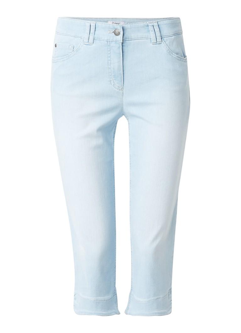 Gerry Weber Capri high rise slim fit jeans met ronde zoom