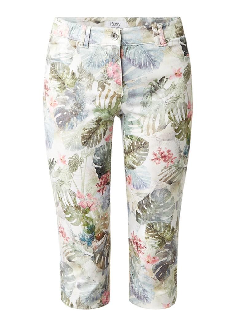 Gerry Weber Roxy Modern fit capri jeans met bloemendessin