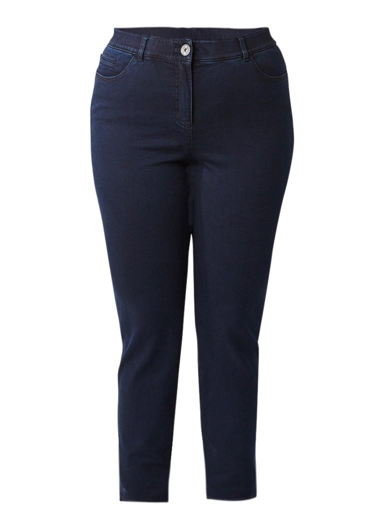 SAMOON Slim fit jeans van stretchkatoen met donkere wassing
