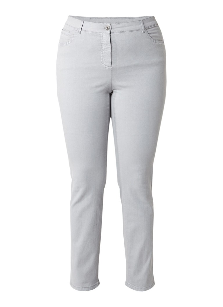 SAMOON Betty 5-pocket slim fit jeans met lichte wassing