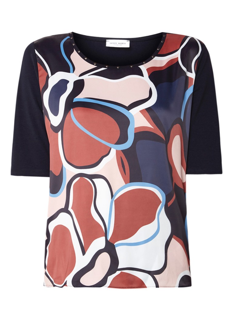 Gerry Weber Top in modalblend met grafisch dessin