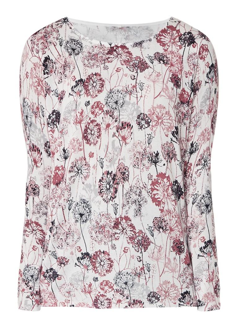 Gerry Weber Fijngebreide pullover met bloemendessin