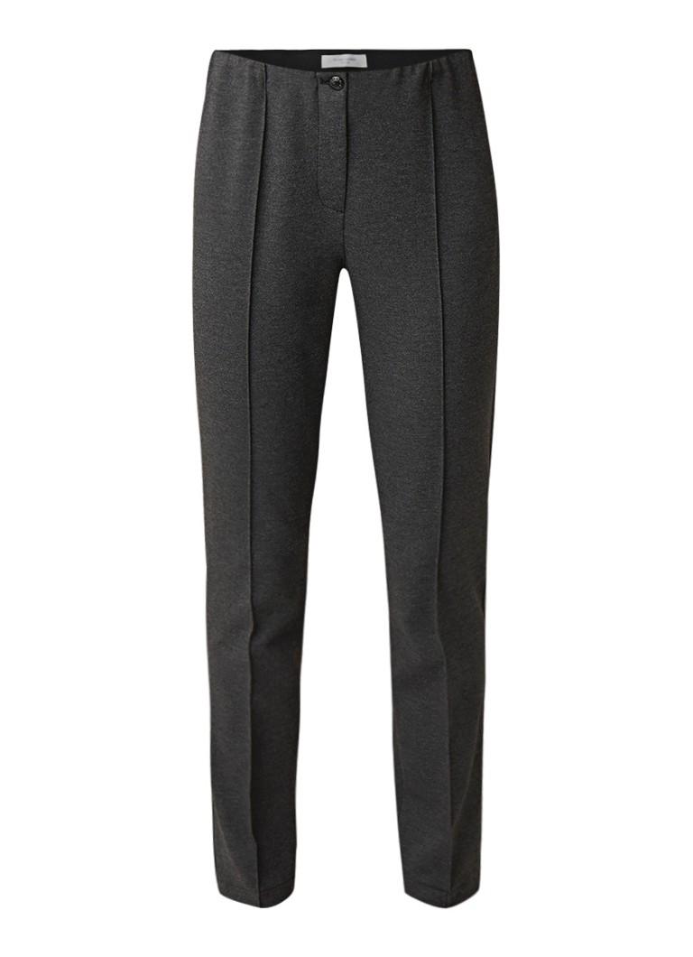 Gerry Weber Cropped slim fit pantalon van jersey met persplooi