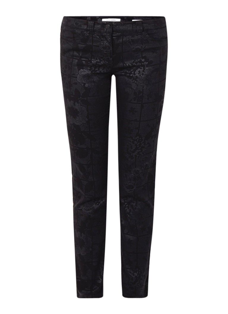 Gerry Weber Mid rise skinny fit jeans met dessin
