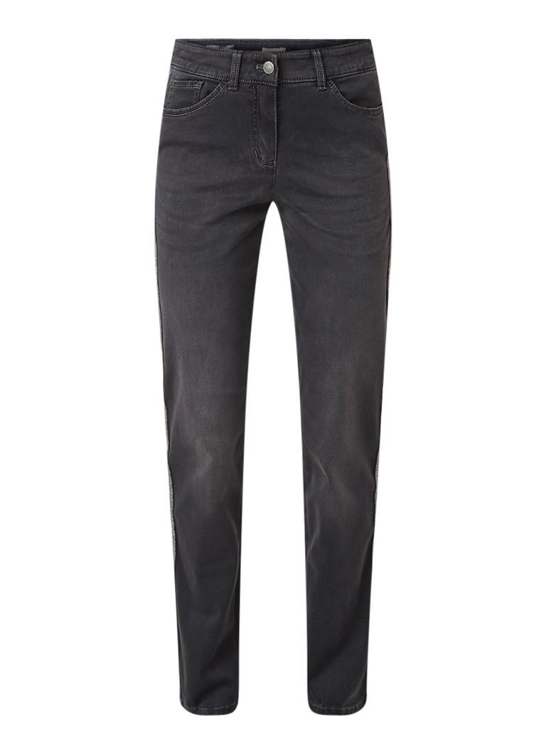Gerry Weber Mid rise slim fit jeans met contrastbies
