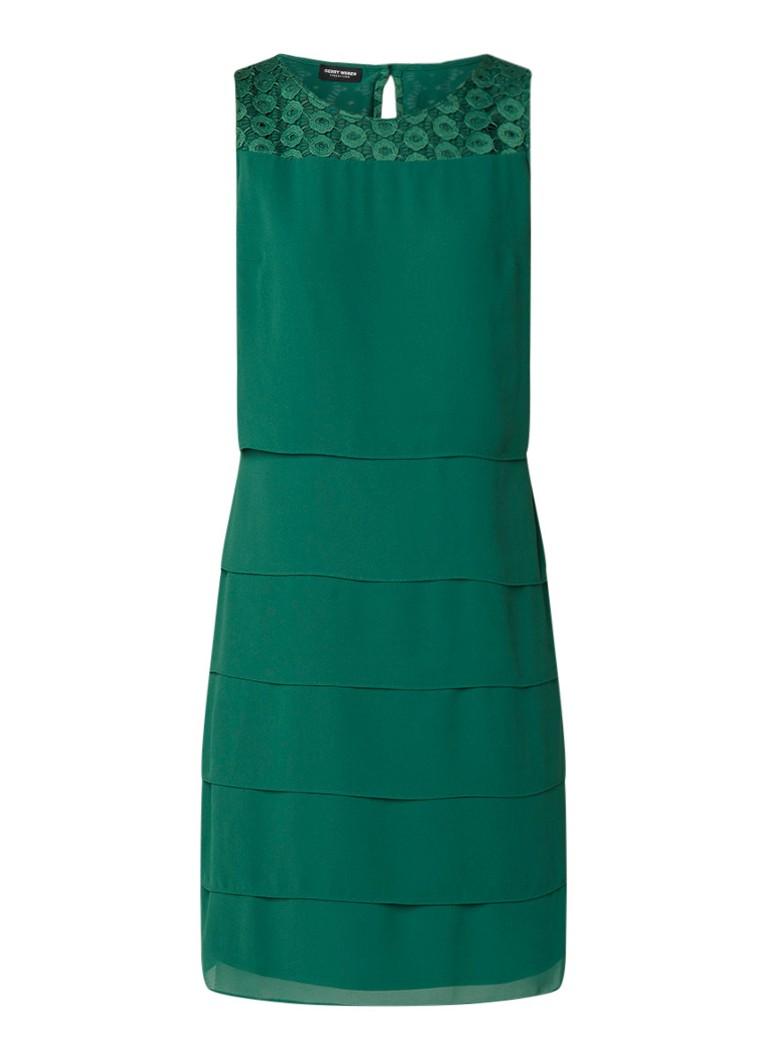 Gerry Weber Mouwloze jurk met details van kant groen