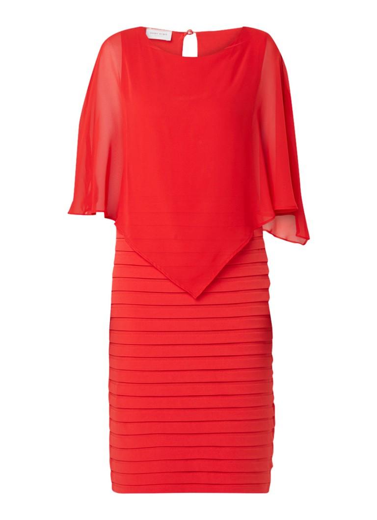 Gerry Weber Semi transparante midi-jurk met plissé detail rood