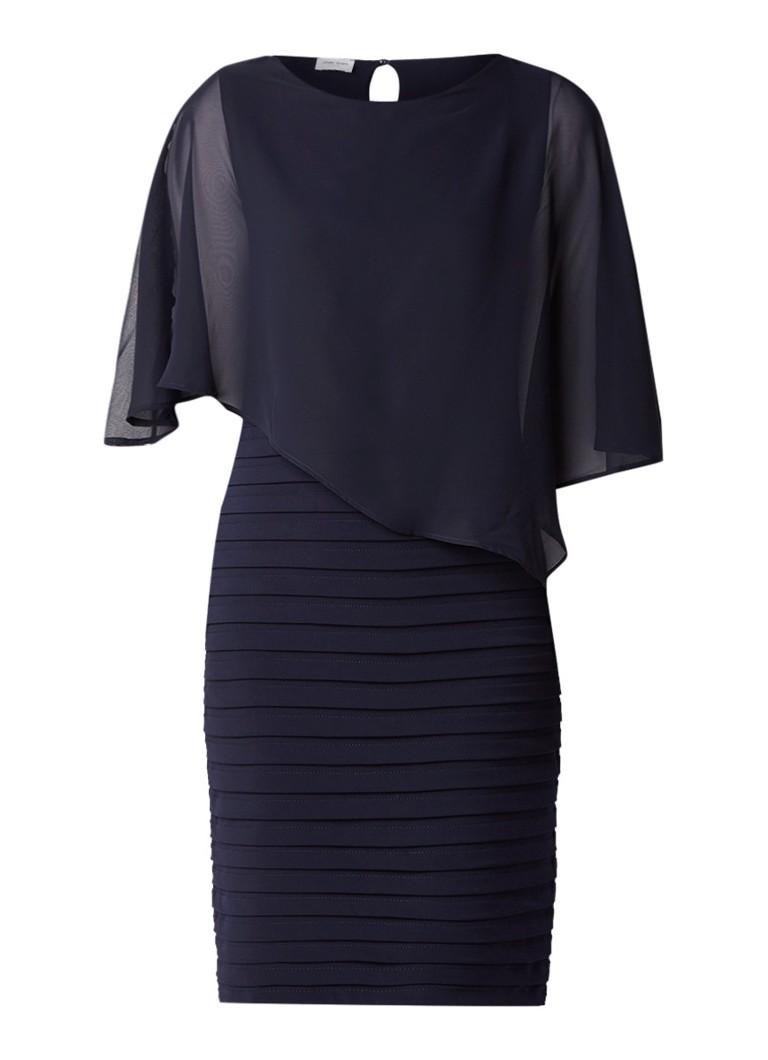 Gerry Weber Midi-jurk met semi-transparant detail donkerblauw