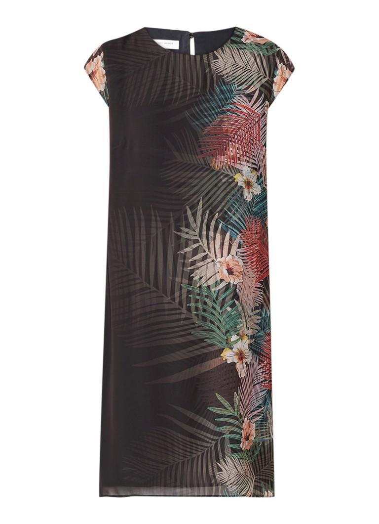 Gerry Weber Midi-jurk met bloemendessin zwart
