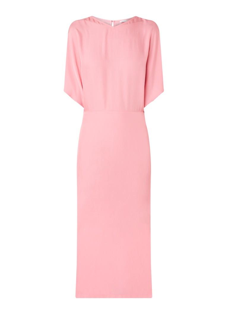 Filippa K Maxi-jurk met kimono mouw roze