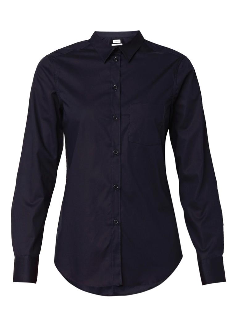 Filippa K Donkerblauwe getailleerde blouse