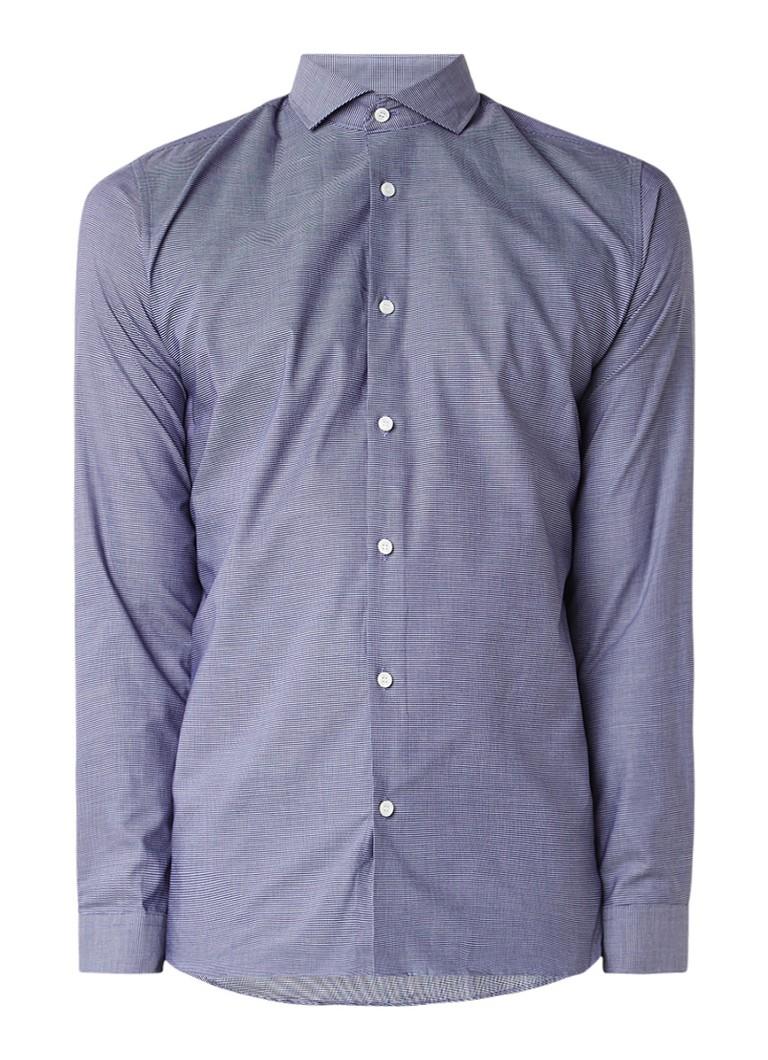 Selected Homme slim fit easy iron overhemd met gemêleerd dessin