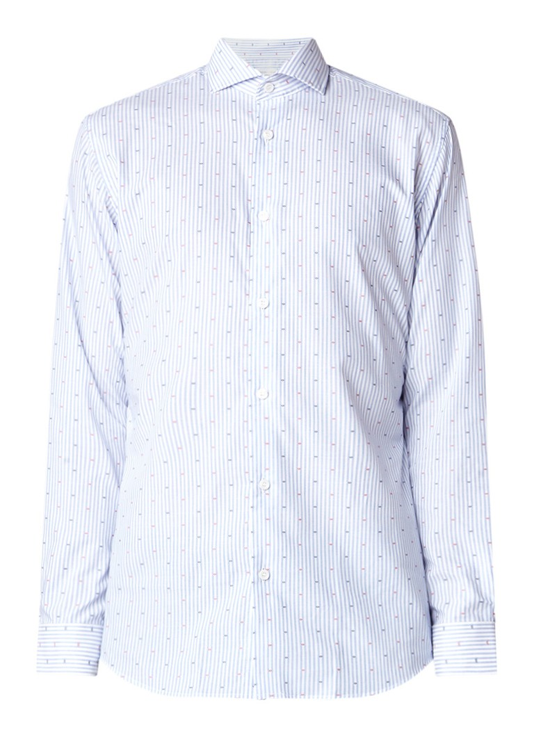 Selected Homme Casper regular fit overhemd met stretch en streepdessin