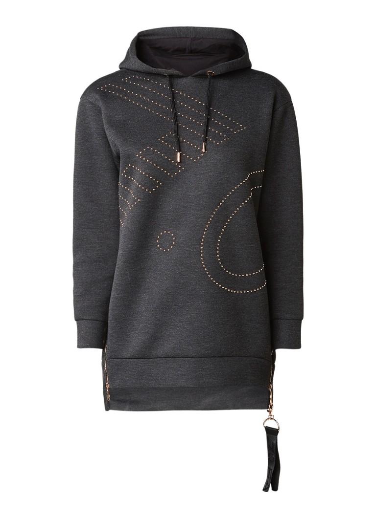 Armani Sweater van neopreen met studs