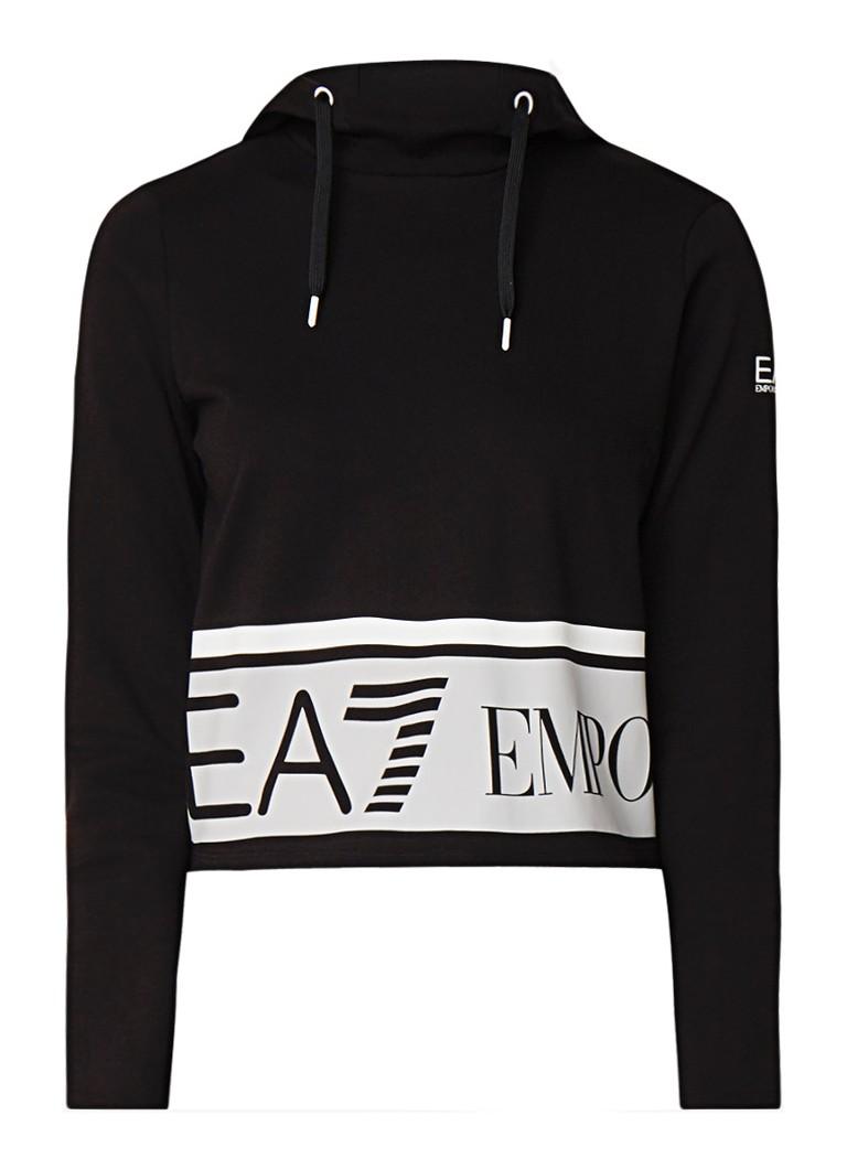 Armani Cropped hoodie met logoprint