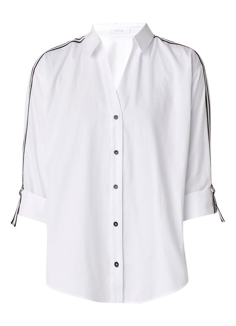 Image of Opus Fuline blouse met contrastbies