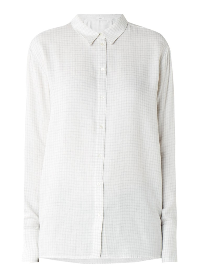 Opus Friska blouse met ruitdessin