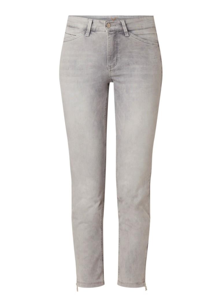 MAC Dream Chic cropped slim fit jeans met ritsdetail