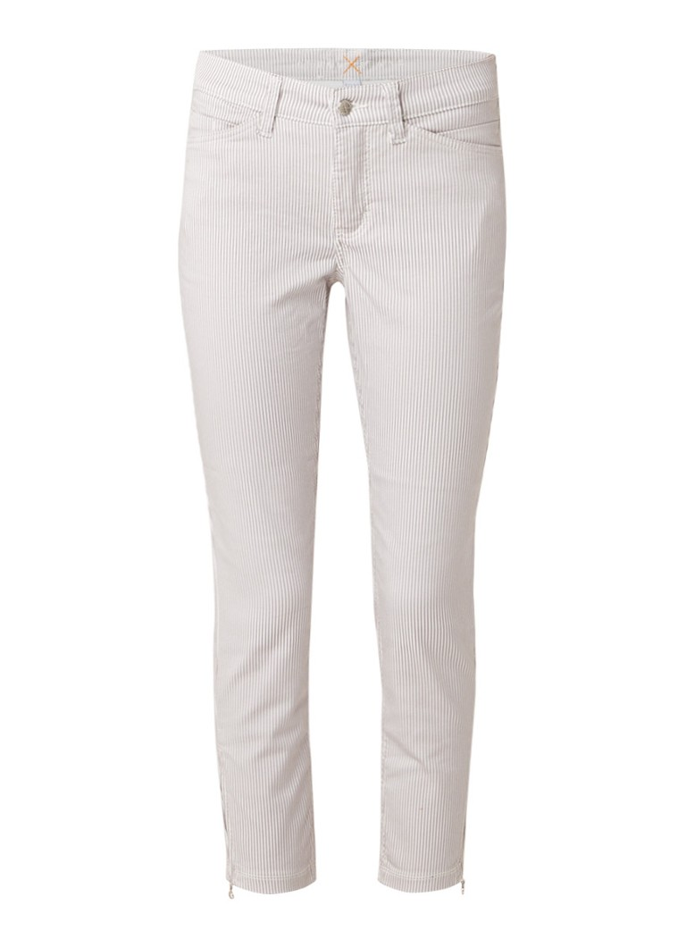 MAC Dream Chique mid rise slim fit cropped jeans met streepdessin
