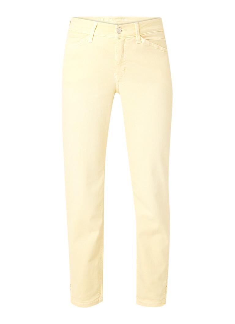 MAC Dream mid rise cropped skinny fit jeans met ritsdetail