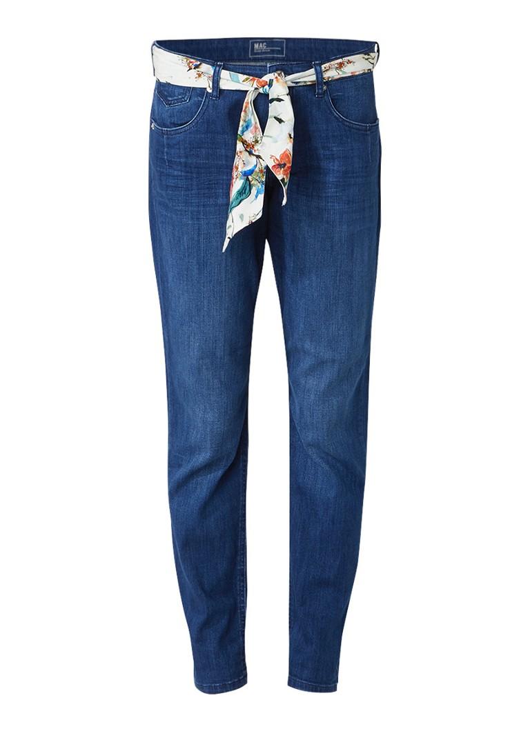 MAC High rise girlfriend jeans met sjaalceintuur