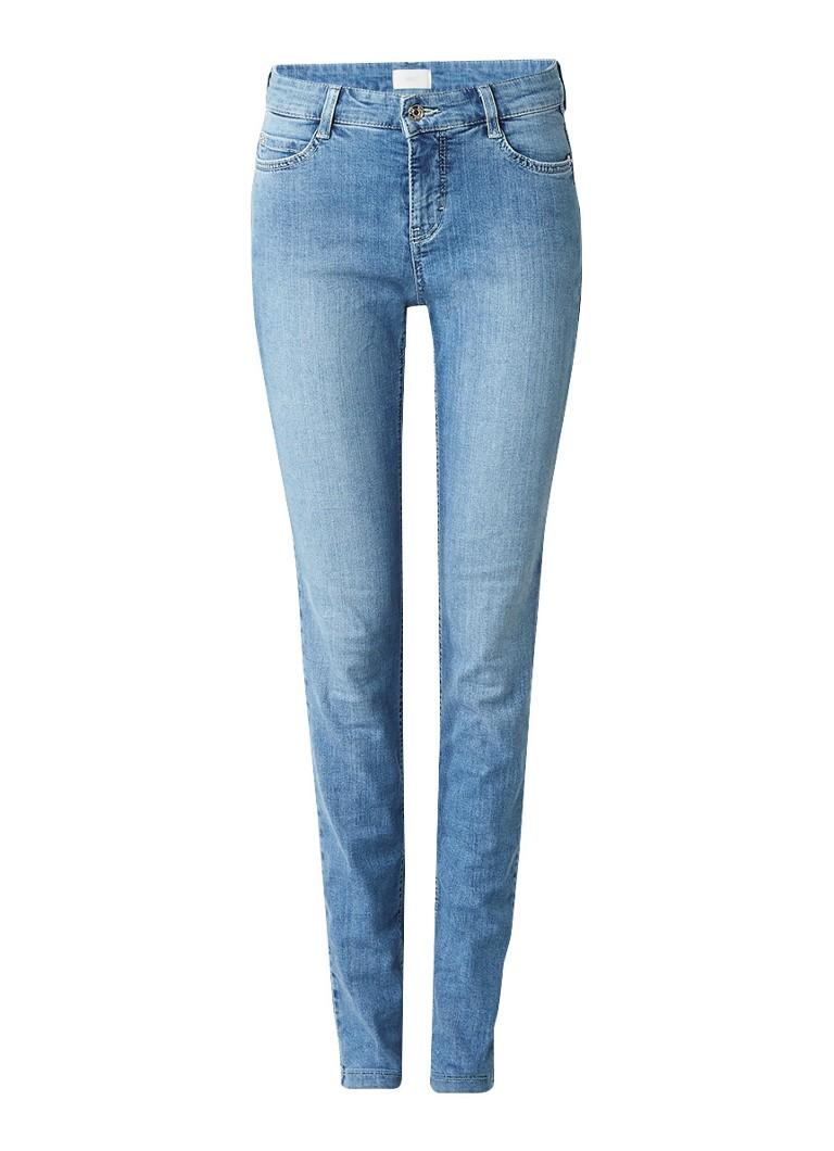 MAC Clean mid rise skinny jeans met faded look