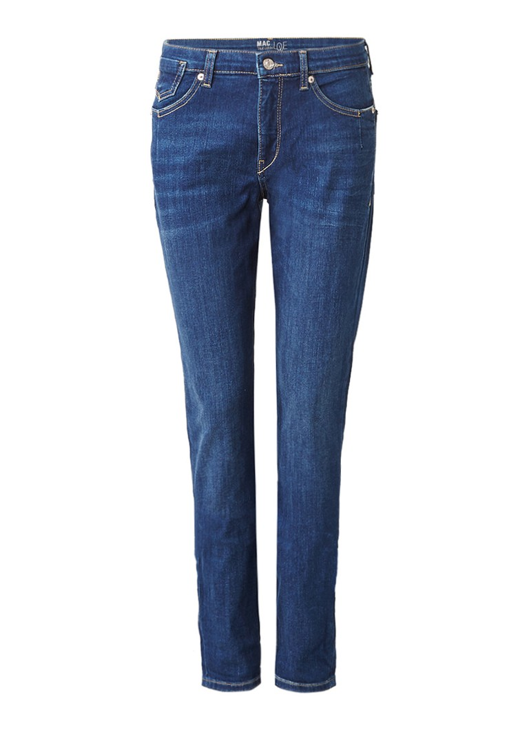 MAC High rise girlfriend jeans met faded wassing