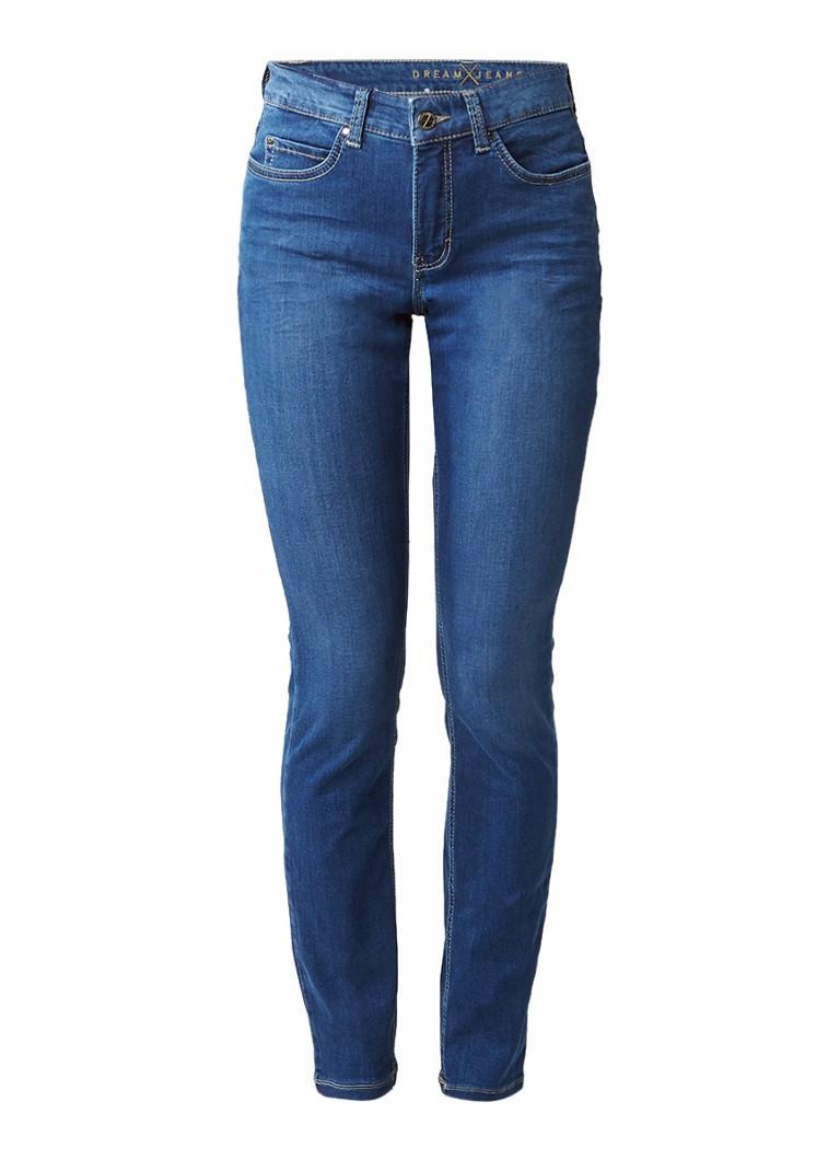 MAC Dream high rise skinny jeans met faded look L32