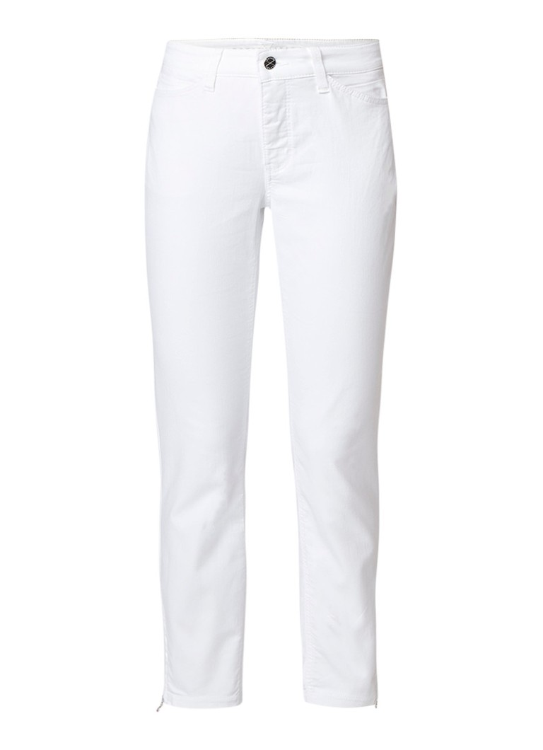 MAC Dream high rise slim fit cropped jeans met ritsdetails