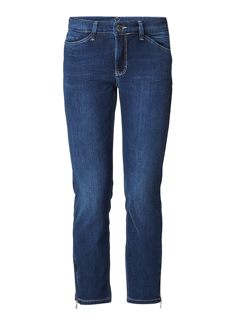 MAC Dream mid rise cropped slim fit jeans met ritsdetail