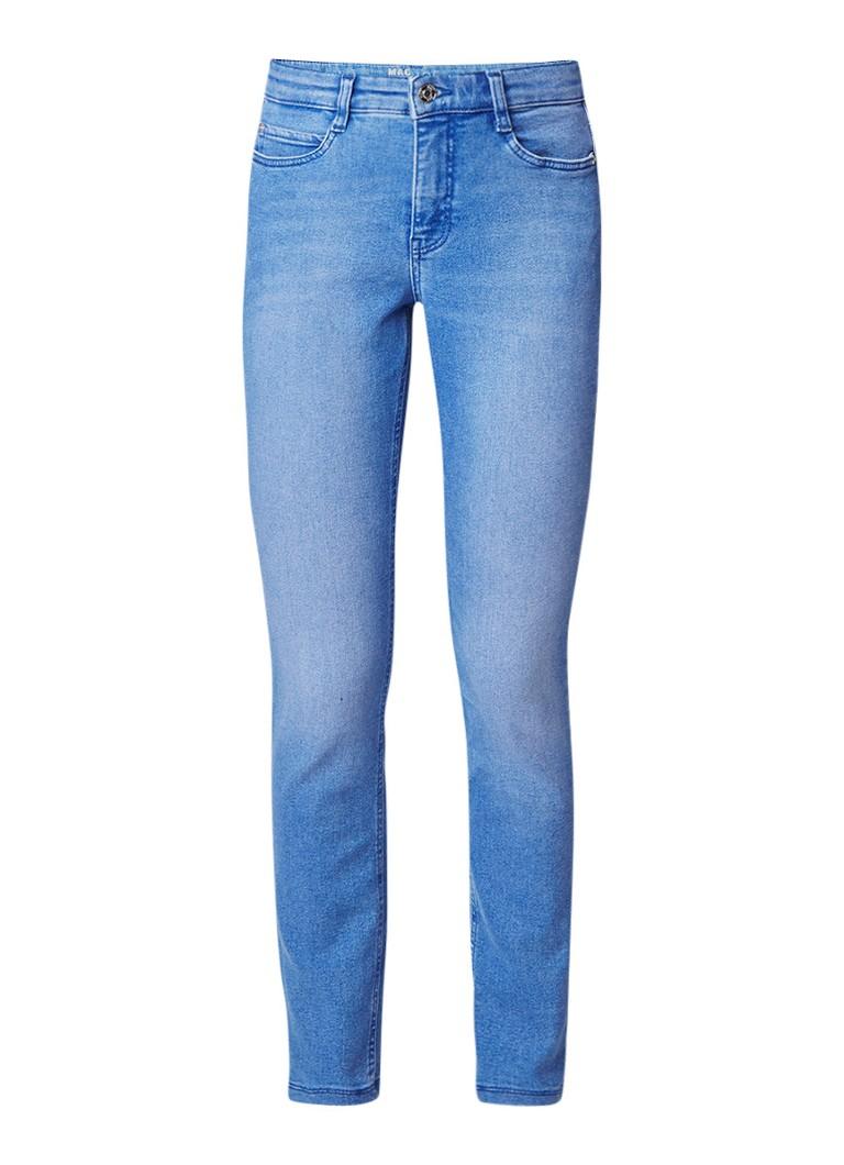 MAC High rise skinny jeans met Electric Blue wassing