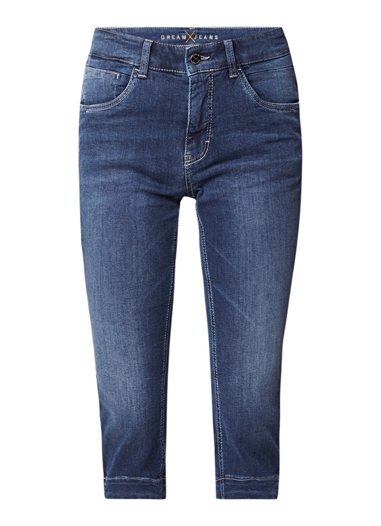 MAC Dream slim fit high rise capri jeans met stretch