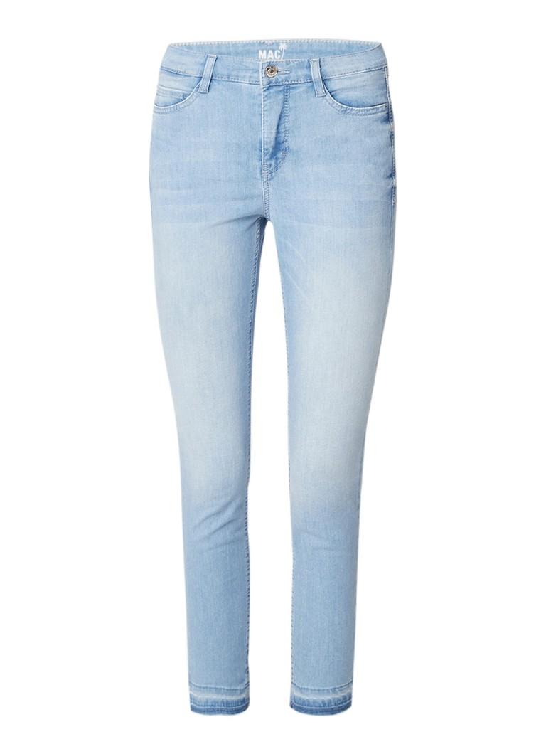 MAC High rise cropped skinny fit jeans met gerafelde zoom