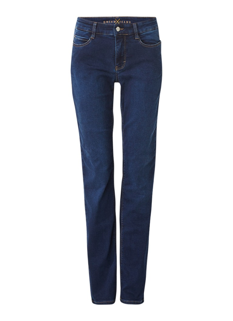 MAC Dream high rise straight fit jeans met donkere wassing