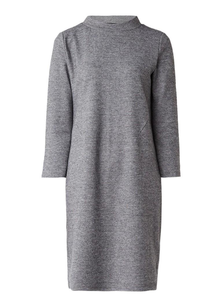 Opus Wylla gemêleerde midi-jurk van wol grijsmele