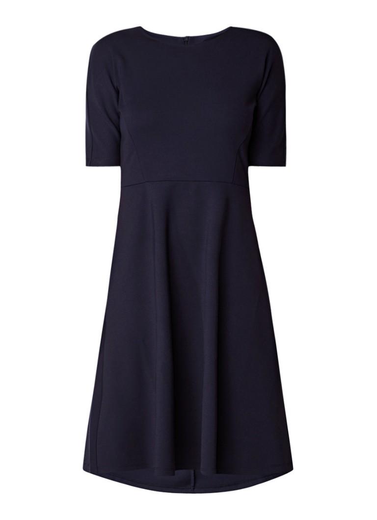 Opus Winosa A-lijn jurk van jersey met deelnaden donkerblauw