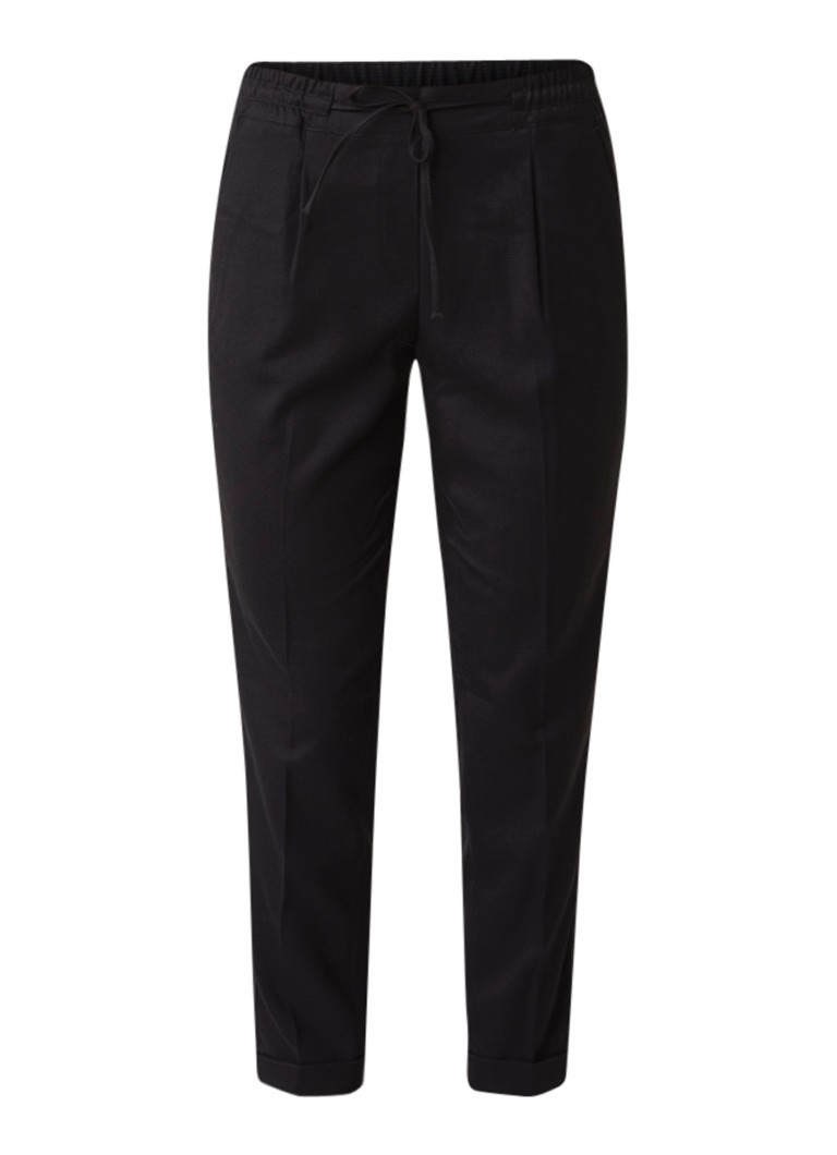 Opus Melosa 7 8 pantalon met bies en elastische tailleband