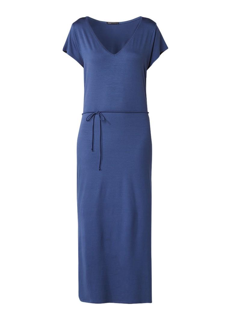 Expresso Fginette maxi-jurk van jersey met ceintuur blauw