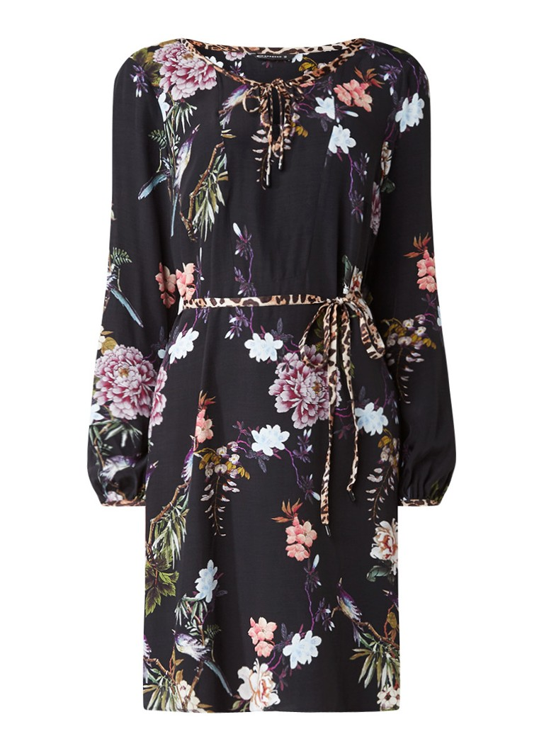 Expresso Jill tuniekjurk met bloemenprint zwart