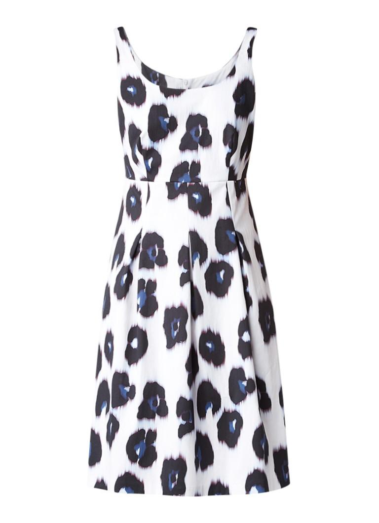 Expresso Ibiza A-lijn jurk met luipaarddessin gebroken wit