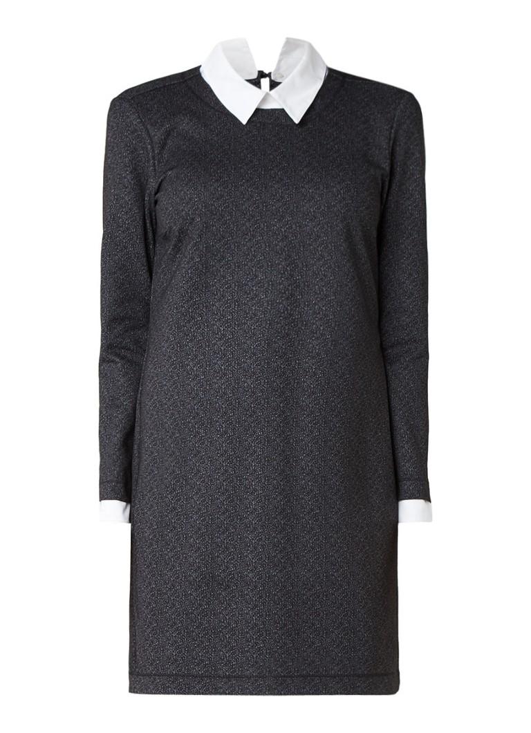 Expresso Mariska sweaterjurk met afneembare kraag antraciet