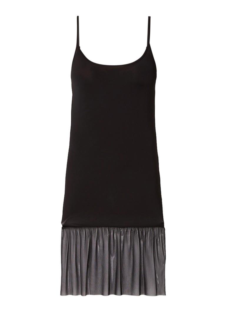 Expresso Pnicah jurk met onderzijde van mesh zwart