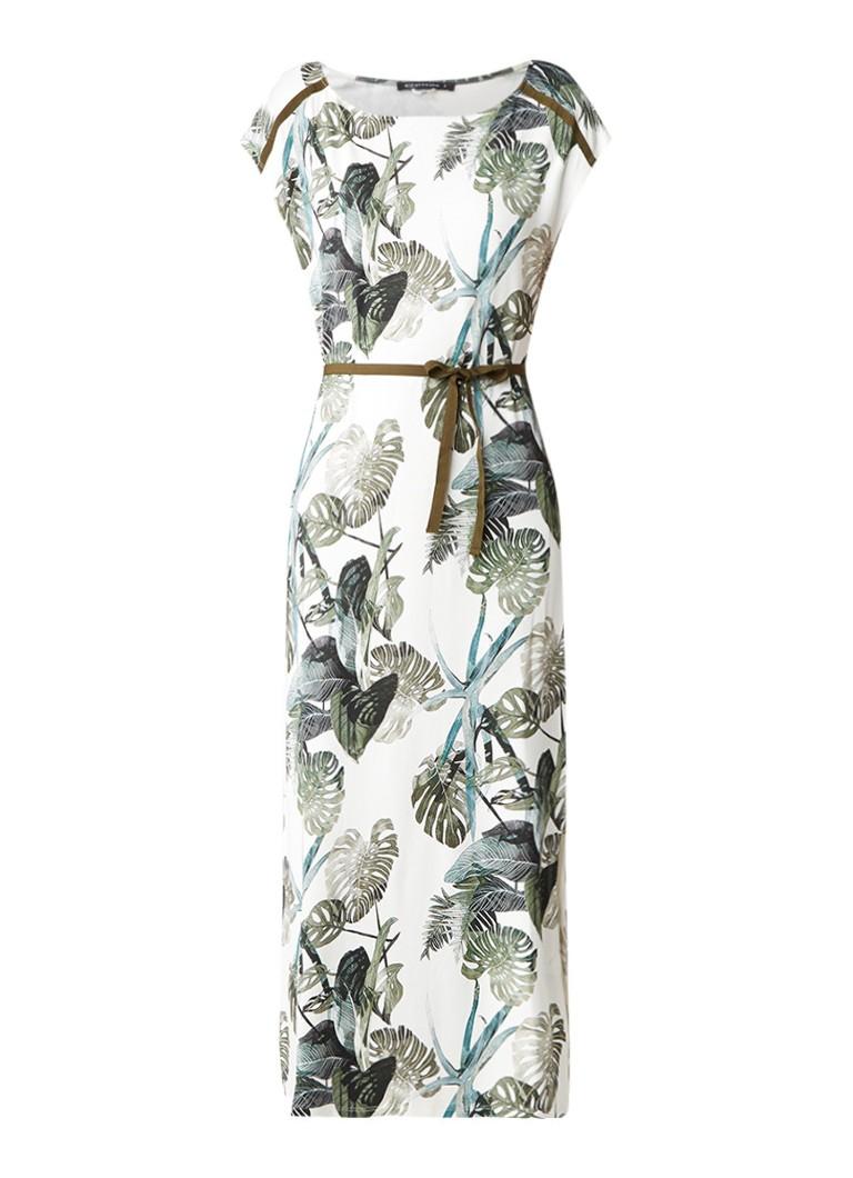 Expresso Sunshine midi-jurk met palmdessin groen