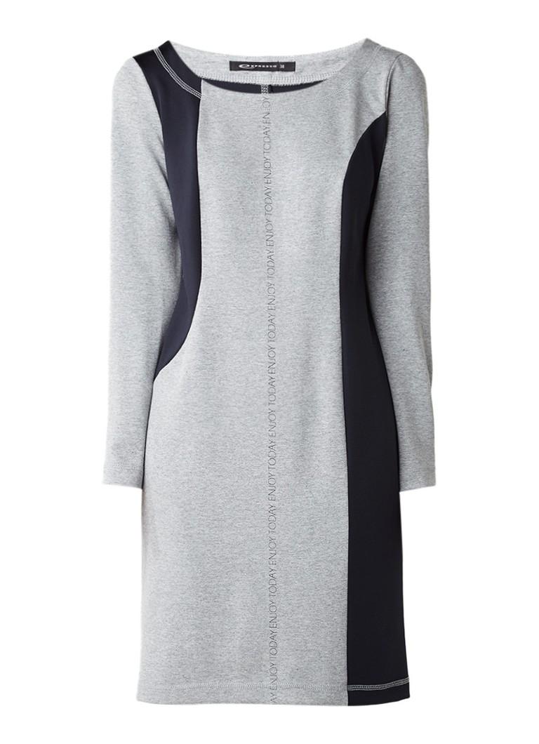 Expresso Baloe bodycon jurk met tekstopdruk grijs