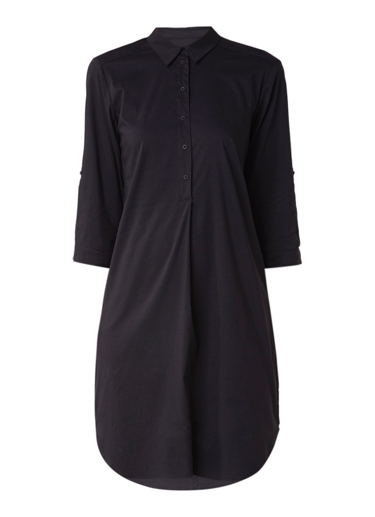 Expresso Berthie blousejurk met plooi zwart